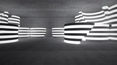 Empty dark abstract concrete room interior. 3D rendering Stock Footage