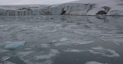 Ice Choked Glacial Bay Stock Footage