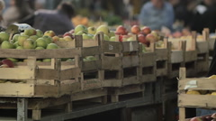 Market place stall Stock Footage