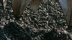 Coal as a source of thermal energy Stock Footage