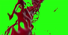 4k Blood Burst Motion Blur (Green Screen) 148 Stock Footage