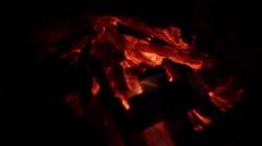 Ember. Burning coal. Stock Footage