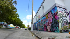 Wynwood art walls 9 Stock Footage