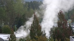 Heavy smoke with nature background Stock Footage