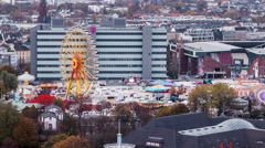Hamburger DOM Top View Time Lapse Stock Footage