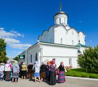 Cathedral of Assumption of Holy Dormition Knyaginin nunnery, Vladimir - stock photo