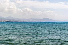 Mediterranean Sea and mountains, Alanya, Turkey - stock photo