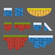 Textures for Platformers Vector Collection - stock illustration