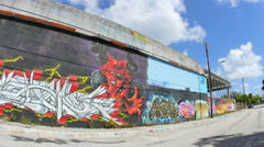 Wynwood art walls 15 - stock footage