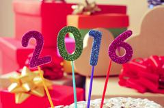 Glittering numbers forming the number 2016, as the new year Kuvituskuvat