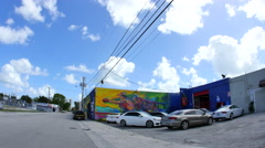 Wynwood art walls 2 Stock Footage