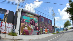 Wynwood art walls 18 Stock Footage
