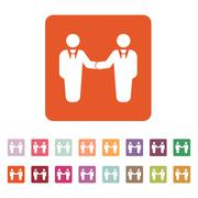 The handshake icon. Partnership and negotiation, cooperation symbol. Flat - stock illustration