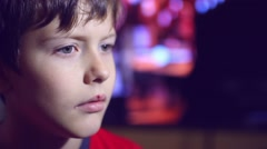 Boy teen portrait of a herpes lips disease in the mouth Stock Footage