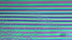 Movement of multi-colored strips of a soap bubble Stock Footage