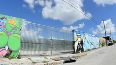 Wynwood art walls 14 Stock Footage