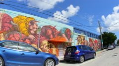 Wynwood art walls 17 Stock Footage