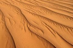 Sand ripples texture on a sanddune Tassili n´ Ajjer Algeria Sahara desert - stock photo