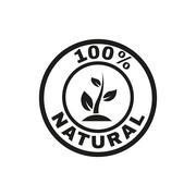 The 100 percent natural icon. Eco and bio, ecology symbol. Flat Stock Illustration
