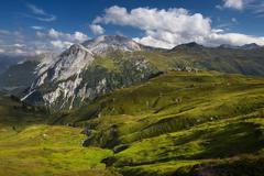 Stock Photo of View of Riedingtal Riedingspitze and Weisseck Riedingtal Nature Reserve