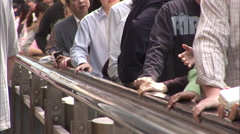 People on Mid Levels escalator, Hong Kong Stock Footage