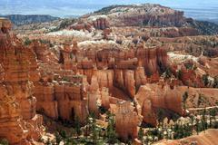 View of coloured rock formations from Sunset Point fairy chimneys Bryce Canyon Stock Photos