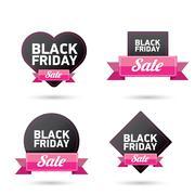 Black Friday sales tag. vector illustration Stock Illustration