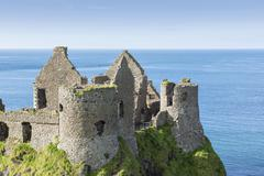 Stock Photo of Dunluce Castle Atlantic Coast County Antrim Northern Ireland