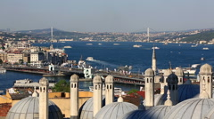 Summer view at crowded Instanbul, Turkey Stock Footage