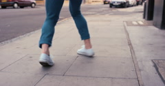 Contemporary funky caucasian man street dancer dancing freestyle in the city - stock footage