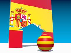 image relative to spain inner politic - stock illustration