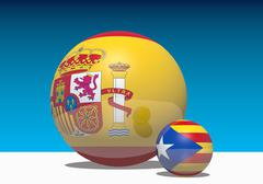 Image relative to spain inner politic Stock Illustration