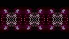 Colorful fireworks kaleidoscope pattern. Stock Footage