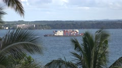 Stock Video Footage of Tugboat arriving, shipping by sea Hawaii