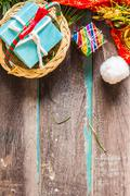 gifts for season. - stock photo