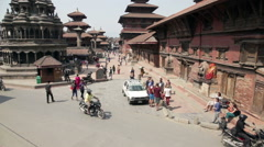 Durbar square in Patan - stock footage
