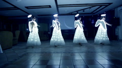 Girls perform at the wedding dressed as angels. Stock Footage