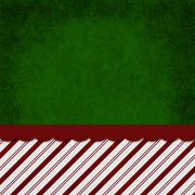 Green, Red and White Striped Candy Cane Striped Grunge Background - stock illustration