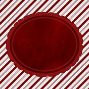 Red and White Striped Candy Cane Striped Background with Red Plush Stock Illustration