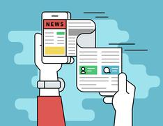 Online reading news Stock Illustration