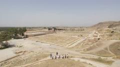 Persepolis Hundred Column Hall Stock Footage
