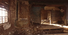 Old Abandoned rural church 6 Stock Footage