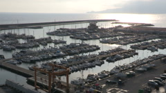 The port of Chiavari Stock Footage