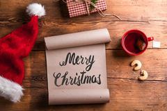 Empty wishlist for Santa - stock photo