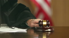 Gavel close up Stock Footage