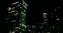 SKYCRAPERS  BUILDINGS OF DOWNTOWN LA AT NIGHT Stock Footage