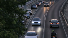 Cars moving on the road - stock footage