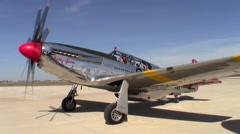 P-51 Mustang Betty Jane Taxi Out Stock Footage