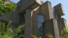 Facade of modern concrete church (Wotruba-Kirche, Vienna) Stock Footage