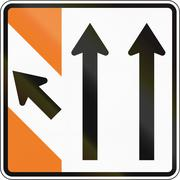 New Zealand road sign - Advance exit sign Stock Illustration